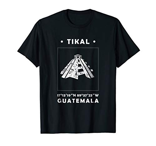 - Tikal Temple Ancient Mayan Ruins Guatemala Souvenir T-Shirt