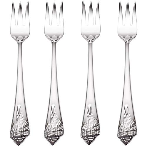 Reed & Barton Sea Shells 18/10 Stainless Steel Cocktail Fork (Set of Four)