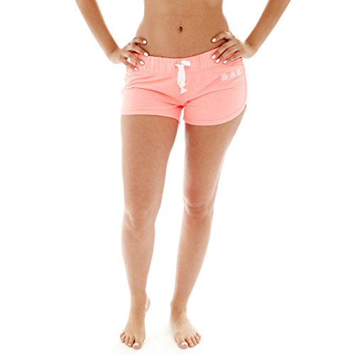 Coco-Limon [A513-CRL/WHT-XL] Women French Terry Cloth Shorts, Bae Print, Elastic Waist (Coco Xl Liner)