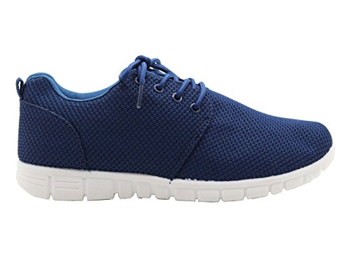 Style Gym Trainers Ladies Running Boots Flat Plimsolls Celebrity Sports Navy Lace Sports Size Jogging Celebrity Shoes Womens gqqE0O