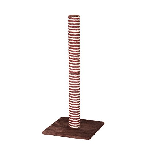 PetPals Candlelight Burgundy and Sisal Scratching Post, One Size
