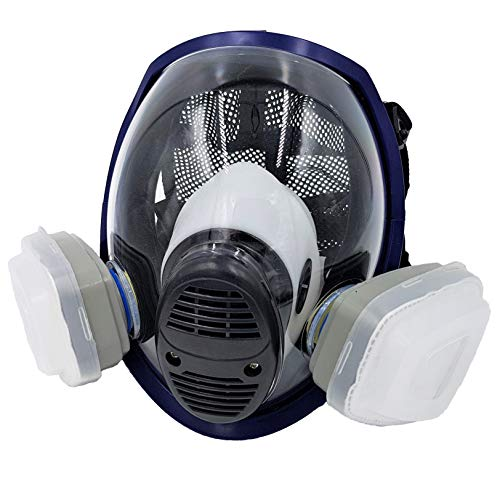 WiseLime Organic Full Face Respirator Mask for Chemicals, Smoke, Paint Spray and Tear Gas, Industrial Grade Quality Gas Mask including 2 Filters (Gas Mask + 1 Pair of #3 Filter Cartridges) by WiseLime (Image #8)