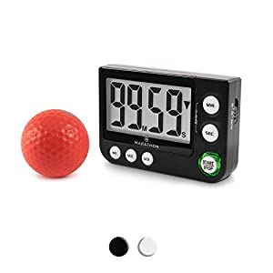 MARATHON TI030016BK Large Display 100 Minute Count UP/Down Timer with Adjustable Volume and Flashing Light Feature. Great for Visually or Hearing Impa