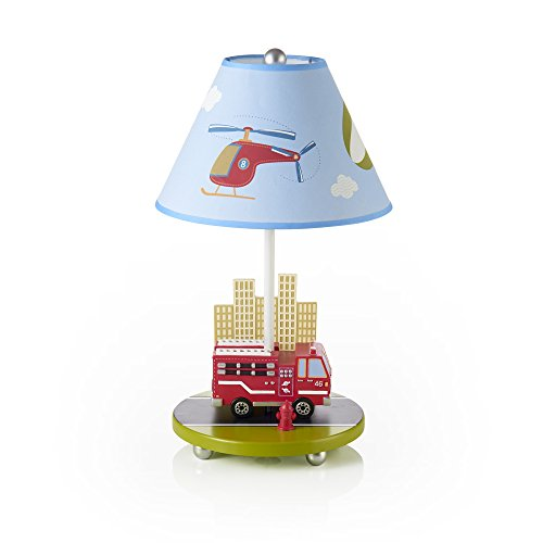 Guidecraft Hand-painted & Hand Crafted Moving All Around Kids Table Lamp (Blue Hand Painted Table Lamp)