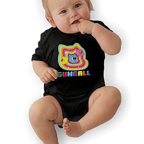 sretinez The Amazing World of Gumball Unisex Funny Infant Romper Baby GirlOutfits Black]()