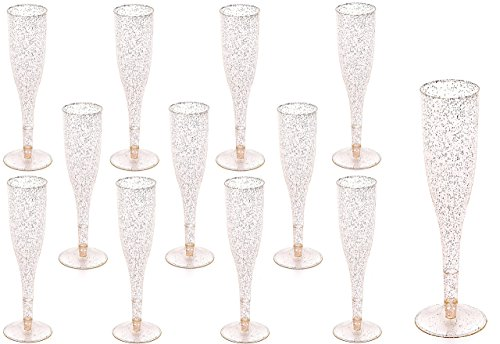 Plastic Classicware Glass Like Champagne Wedding Parties Toasting Flutes (1 Box = Quantity 70) (Flutes Plastic Toasting)