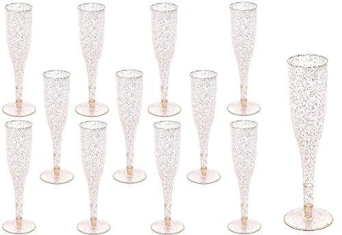 Plastic Classicware Glass Like Champagne Wedding Parties Toasting Flutes (1 Box = Quantity 70) (Toasting Plastic Flutes)