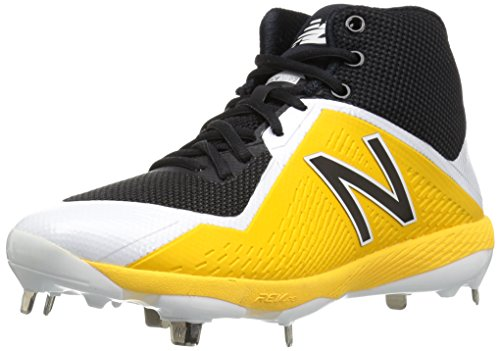 - New Balance Men's M4040v4 Metal Baseball Shoe, Black/Yellow, 10.5 D US