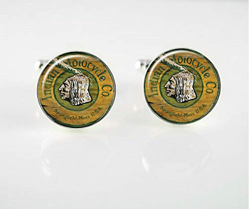 Indian Motorcycle Cuff Links by L Perry Designs