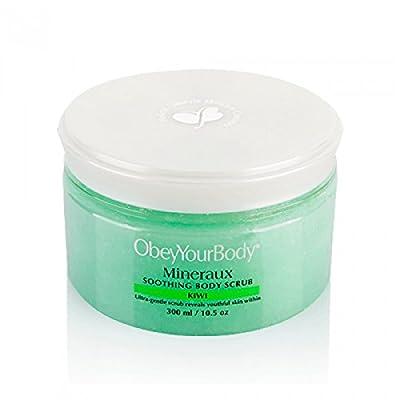 Obey Your Body Mineral Body Salt Scrub Treatment Exfoliating Kiwi - ADSBeauty, 300ml/10.5 fl oz