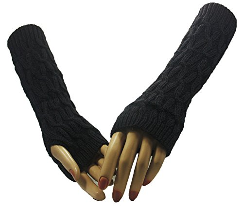 Fashion Dimensions Grey Paths Arm Warmer Gloves