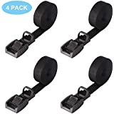 Mind and Action 16 Foot Sturdy Tie Down Strap Lashing Strap with Rubber Padded Cam Lock Buckle,for Car Roof Rack,Kayak Canoe SUP Surfboard Tie Down,Boat Trailer Tow Strap(4 Pack)