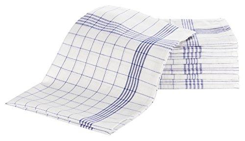 ZOLLNER® 10er Set Geschirrtücher 50x70 cm aus 100% Baumwolle, blau-weiß-kariert, in weiteren Farben erhältlich, in Gastronomiequalität, Serie
