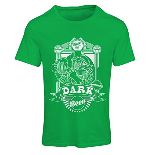 lepni.me N4835F T Shirts For Women The Dark Side Of The Beer (Small Green Multi Color)