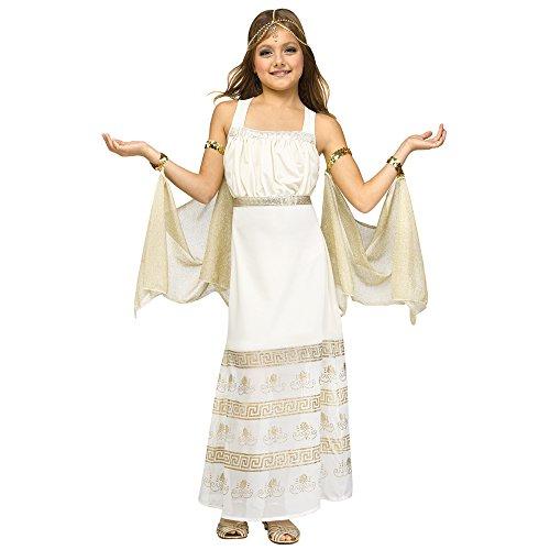 Fun World Girls Golden Goddess Costume, Gold, Large -