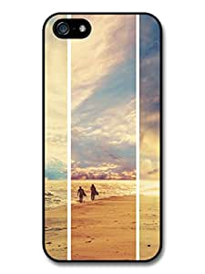 Surfers Walking on the Seashore in the Sunset case for iPhone 5 5S