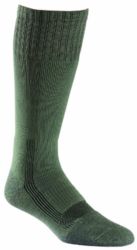 (Fox River Military Wick Dry Maximum Mid Calf Boot Sock (Large/Green))