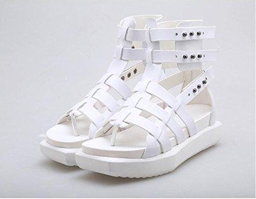 À Fin Plate Femmes D'Été Lin Fond Xing Occasionnels Sandales À white Nouveaux Femme Bottes La La Forme Chaussures Marée Plat L'Été De Pour Freins Fraîche wIYvwx7Fq