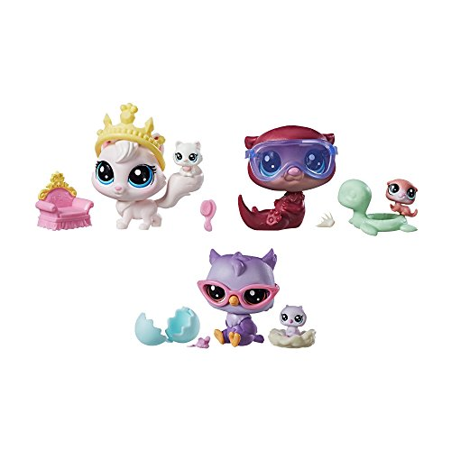Littlest Pet Shop Pet Pairs, 6-Figure Multipack of Cute Collectible Animal Figures (Mommies & Babies)