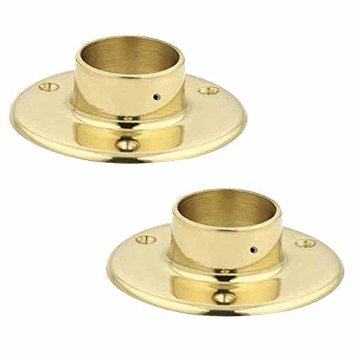 Bar Bracket Polished Solid Brass Bar Bracket Floor Flange 5 Inch Brass