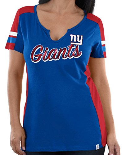 Majestic New York Giants Womens Pride Playing V-Neck Tee (XX-Large)