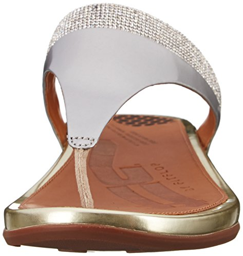 Flop Banda FitFlop Post Women's Micro pale Toe Flip gold Crystal UBTqw05Pq