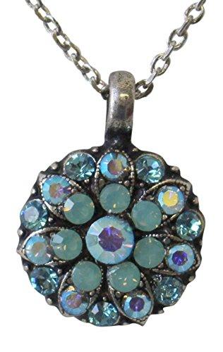 Mariana Guardian Angel Pacific Blue & Blue AB Swarovski Crystal Pendant Necklace 26770