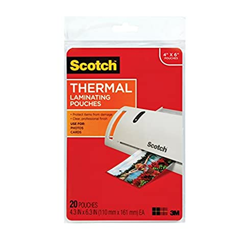 - 41IZ2hH x0L - 3M Corp Scotch Thermal Laminating Pouches, 4.37 x 6.36 Inch, 20 Count (TP5900-20)