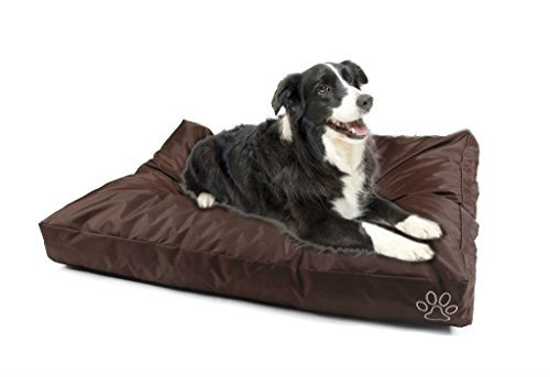 4 Pets DIY Dog Cushion Cover Pet Mat Case Do It Yourself Brown Color Oxford XL by 4pets