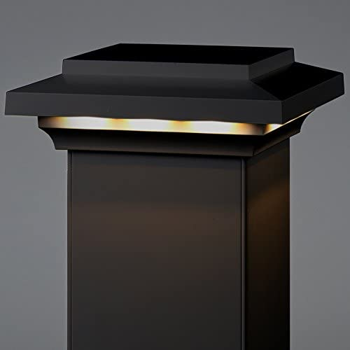 AZEK 5.5 x 5.5 Lighted Island Post Cap – Black