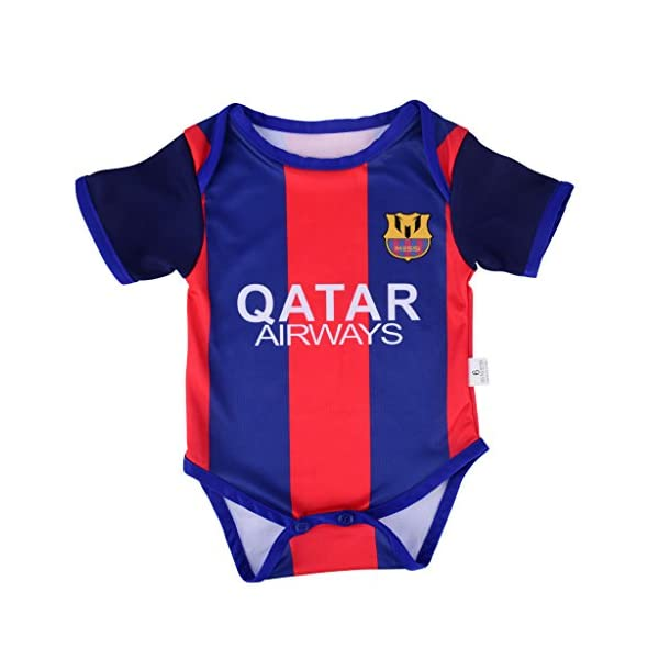 timeless design 704cc 86e9d Lionel Messi #10 Soccer Jersey Baby Infant & Toddler Onesies Rompers Pack  of 2 Home & Away Jersey Design Bundle