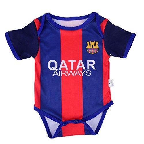 super popular 59529 31380 Leo Messi #10 Barcelona Soccer Jersey Baby Infant & Toddler Onesies Rompers  Pack of 2 Home & Away Jersey Design Bundle (0-3, Home)