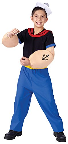 Popeye Child Costume - Large (Popeye Costume For Toddlers)