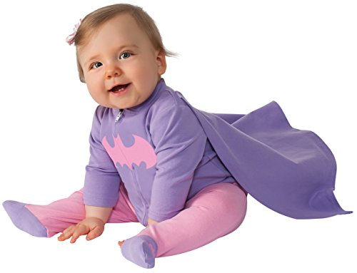 Rubie's Costume Baby Girl's DC Comics Superhero Style Baby Batgirl Costume, Multi, 6-12 (Girls Bat Witch Costumes)