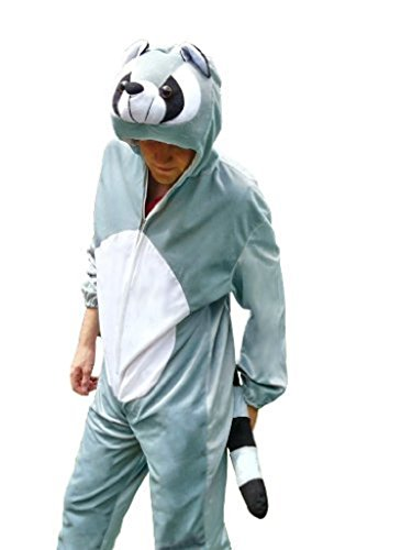 Fantasy World Adults Racoon Costume Halloween for Men