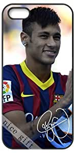 Neymar signed FC star HD image case cover for iphone 5 5S black A Nice Present