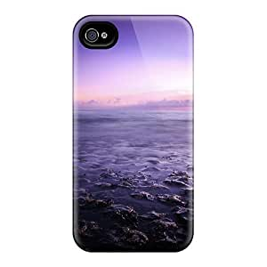 For RCy38094wJGq Purple Seascape Protective Cases Covers Skin/iphone 6 Cases Covers