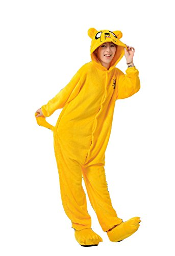 [Christmas Cosplay Kigurumi Costume Jack the Dog Pajamas Onesies S US Yellow] (Pajamas Dance Costumes)