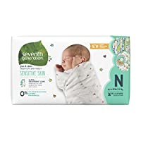 Seventh Generation Baby Diapers, Free and Clear for Sensitive Skin, Newborn 1...
