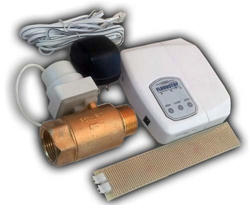 Valve Automatic Shut Off Water (FloodStop Water Heater Auto-Shutoff Valve, FS3/4NPT, V4 Controller, Water Damage Prevention)