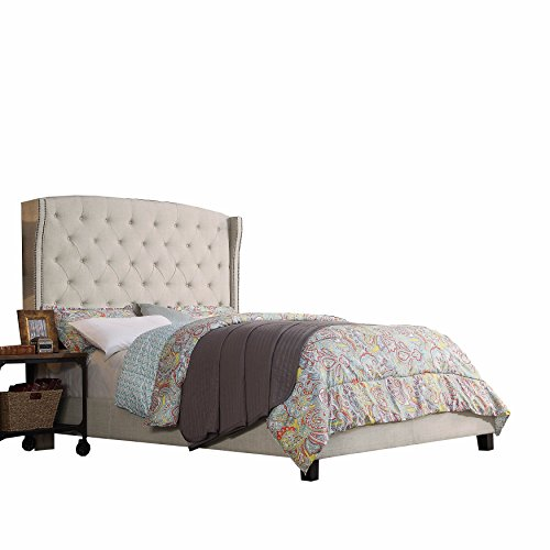 - Rosevera Platform Bed Noblesville Upholstered Panel, Queen, Beige