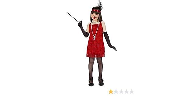 Disfraz Charleston Flecos Rojo 5-6: Amazon.es: Juguetes y juegos