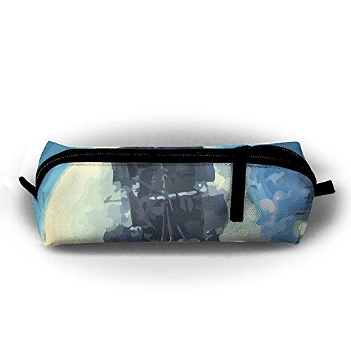 Rfhbjthir Sailing Into The Moon Unisex Pen Bag Zipper Cosmetic Bags Cylindrical Purse -
