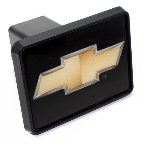 """Chevy Gold Bowtie Logo Tow Hitch Cover Plug w/pin for Car-Truck-SUV 2"""" Receiver"""