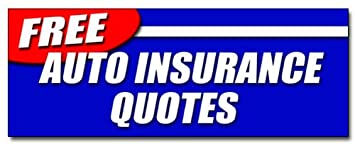 Insurance Quotes Car >> Amazon Com 12 Free Auto Insurance Quotes Decal Sticker Car