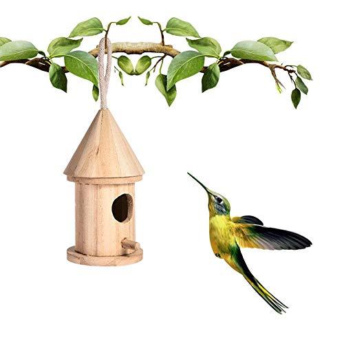 - Handmade Wooden Hanging Bird House Nest, DIY Bird House Outdoor Hanging Bird Nest Home Decoration Gardening Decoration, Indoor and Outdoor Decoration