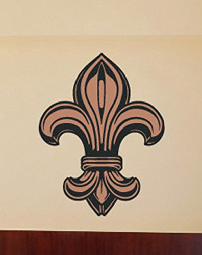 Fleur Delis Wall Decals Stickers USColor001, Brown, 15 - Wall Fleur Decal