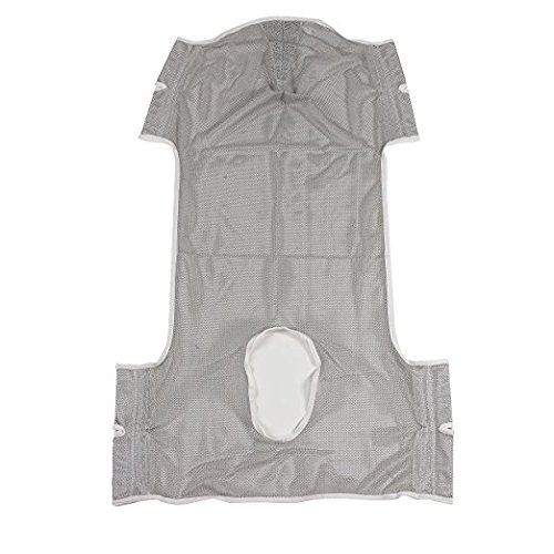 - Drive Medical Patient Lift Commode Sling with Head Support, Dacron