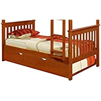 Bunk Bed Kingdom Trundle Bed, Twin, Espresso
