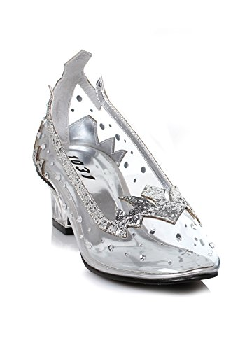 Ellie Womens Girl's Silver Glitter Shoes X-Large (4-5) QN1HfShimu